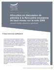 Allocution en discussion de plénière à la Rencontre onusienne de haut niveau sur le sida 2006