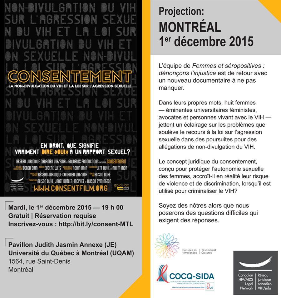 Projection de Consentement à Montréal
