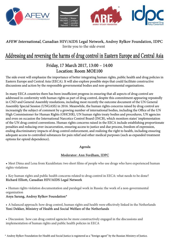 Addressing and reversing the harms of drug control in Eastern Europe and Central Asia