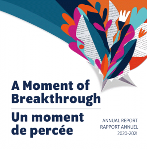 A Moment of Breakthrough - Annual Report 2020-2021